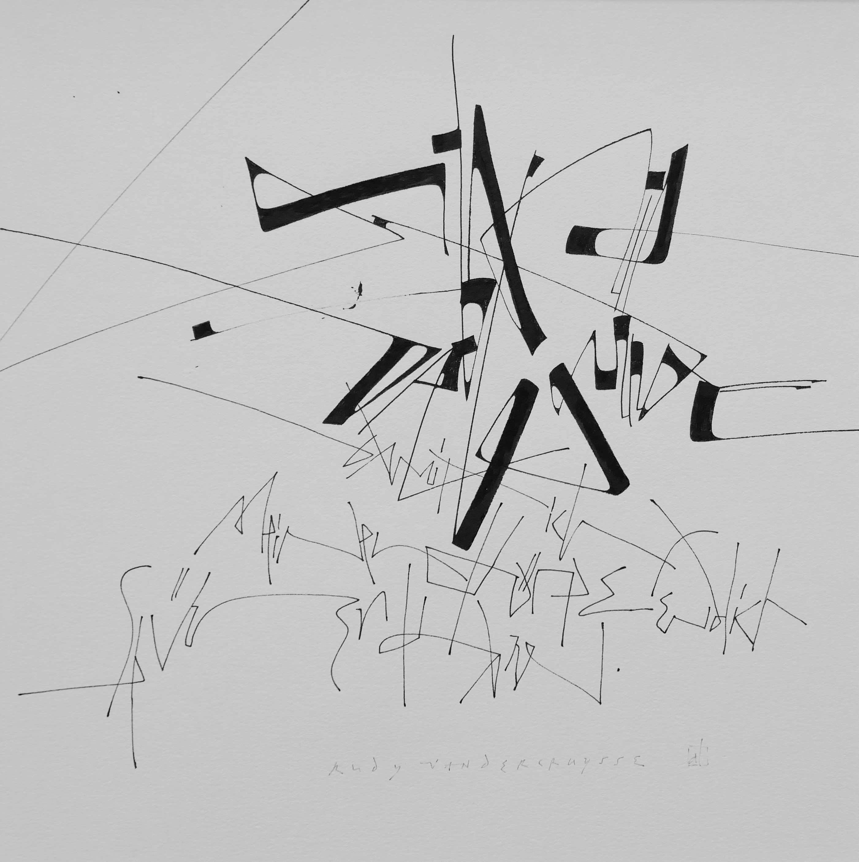 Ausstellung Craquelé Schriftkunst